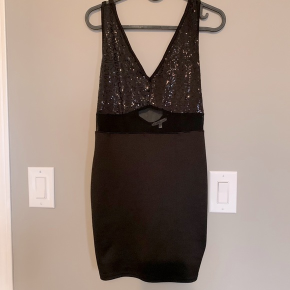 Strappy Sequence Detail Mini Dress